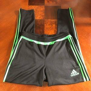 Adidas neon green/black skinny jogger M